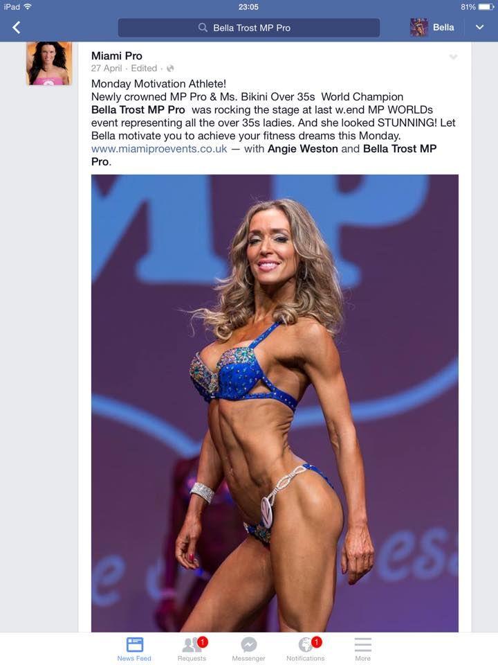 Bella Trost, fitnesz, sport, negyvenes nő