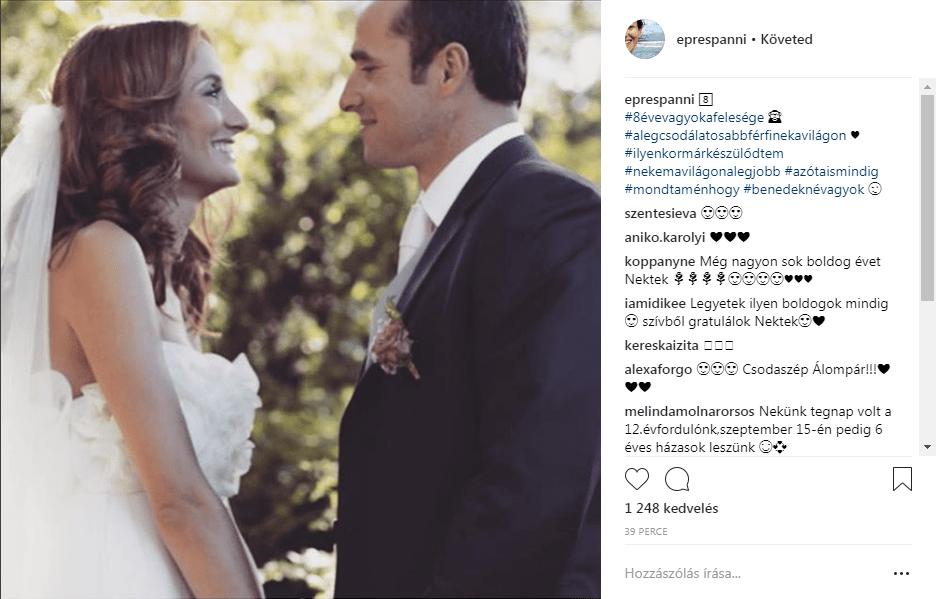 Epres Panni és Benedek Tibor esküvői fotója