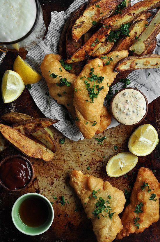 hétvégi menü, fish and chips, nyár