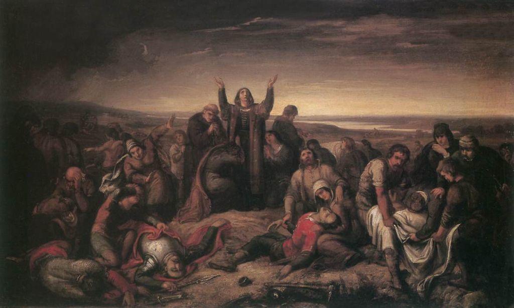 Orlai Petrich Soma: Perényiné Kanizsai Dorottya a mohácsi csata után összeszedi a halottakat