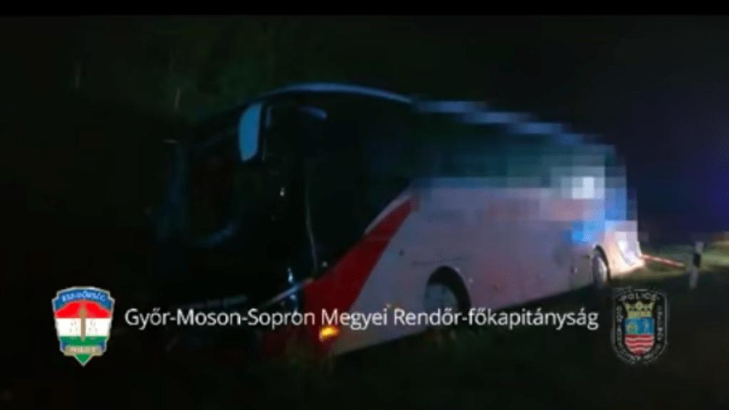 buszbaleset m1-es autópálya lébény