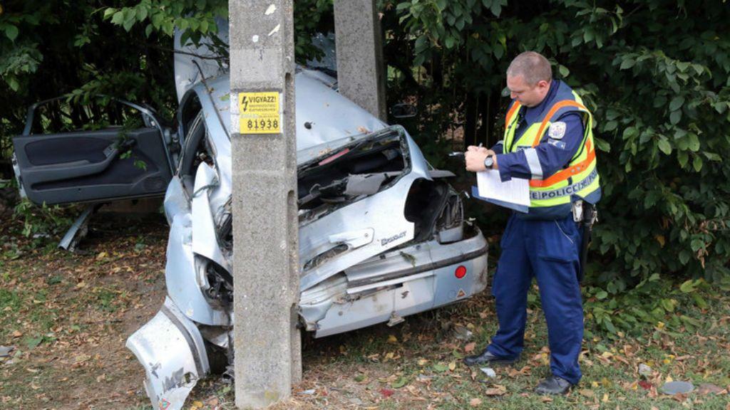 baleset ittas vezetés
