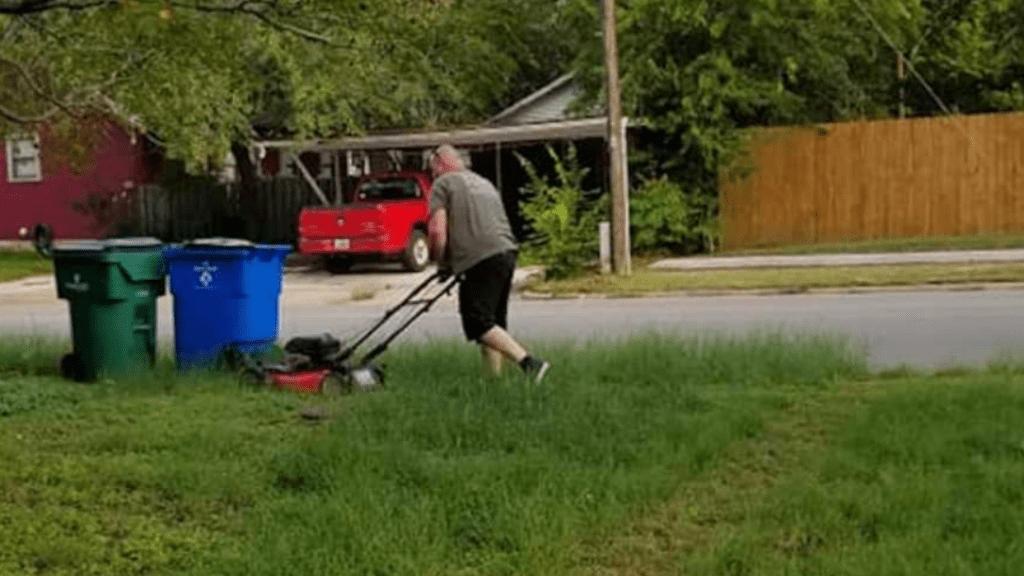 fűnyírás apa válás