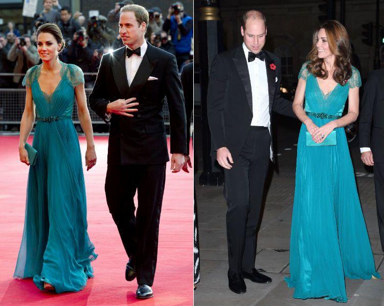 Katalin hercegné és Vilmos herceg 2012-ben és 2018-ban