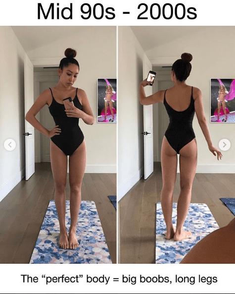 testkép fitneszblogger tökéletes test