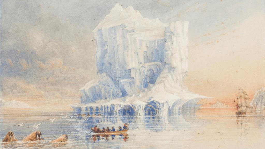 Sir George Back festmény Franklin-expedíció HMS Terror északnyugati átjáró hajó sarkvidék