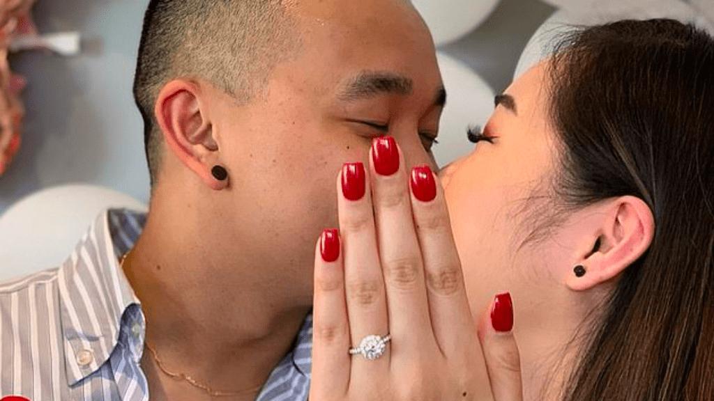 eljegyzési fotó dublőr gyűrű