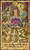 tarot kártya jóslat főpapnő