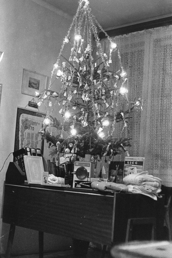 Retró karácsonyi nappali