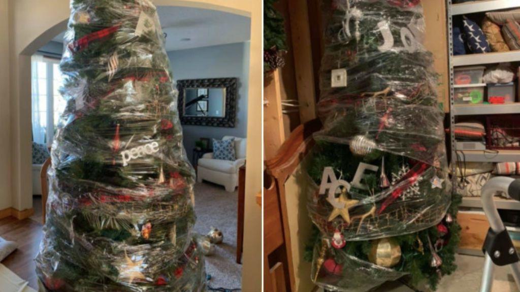 fenyőfa karácsonyfa lebontása dísz