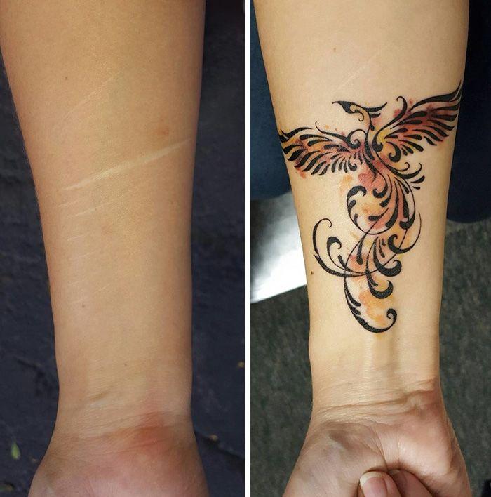 tetoválás bátorság heg