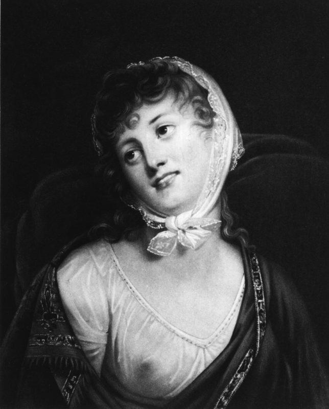 A lengyel grófnő Marie Walewska Robert Lefebure festményén (1789 - 1817)