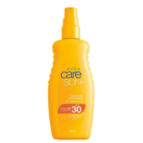 Avon Care Sun+ vízálló, áttetsző napvédő spray (SPF 30)