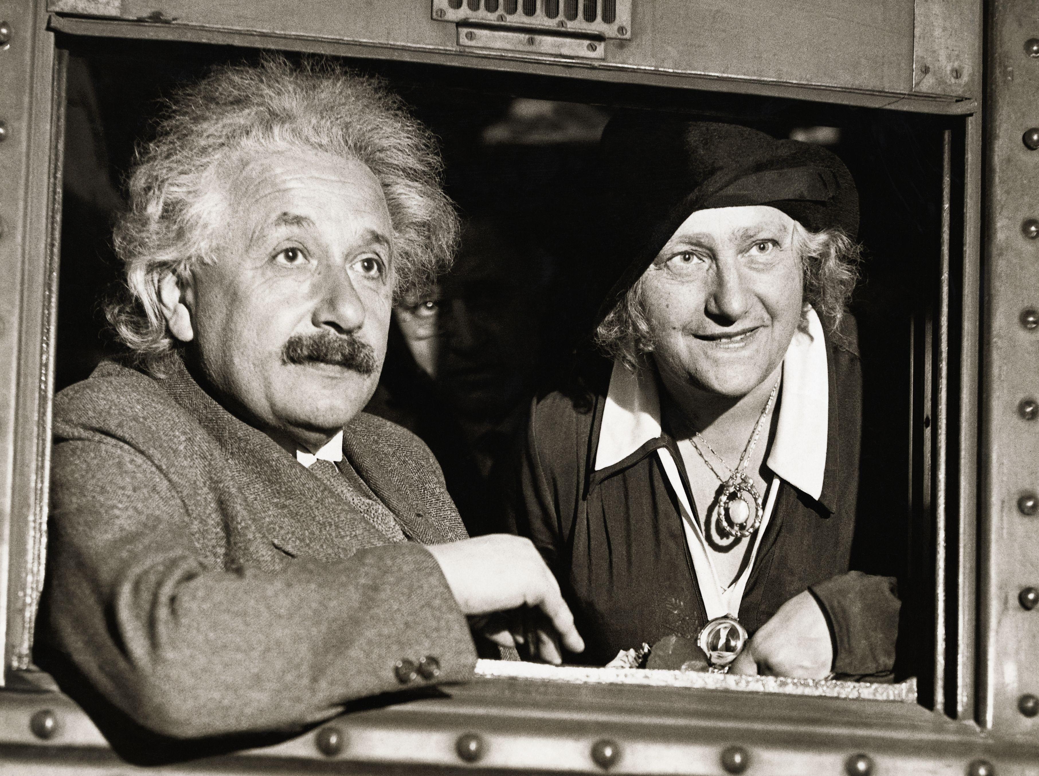Albert Einstein és felesége, Elsa - Fotó: Getty Images