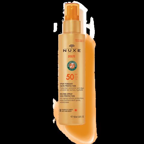 Nuxe Sun lágy textúrájú naptejspray arcra és testre (SPF 50)