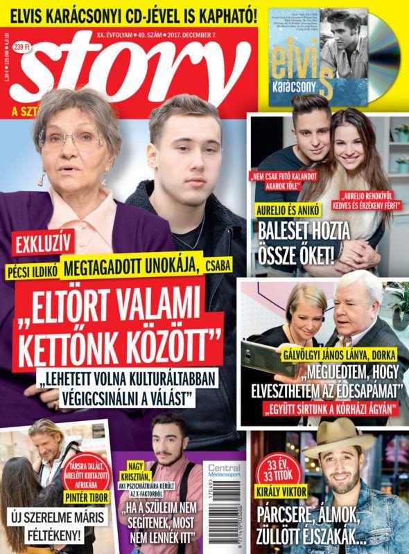 Ildikó és unokája, Csaba a Story címlapján