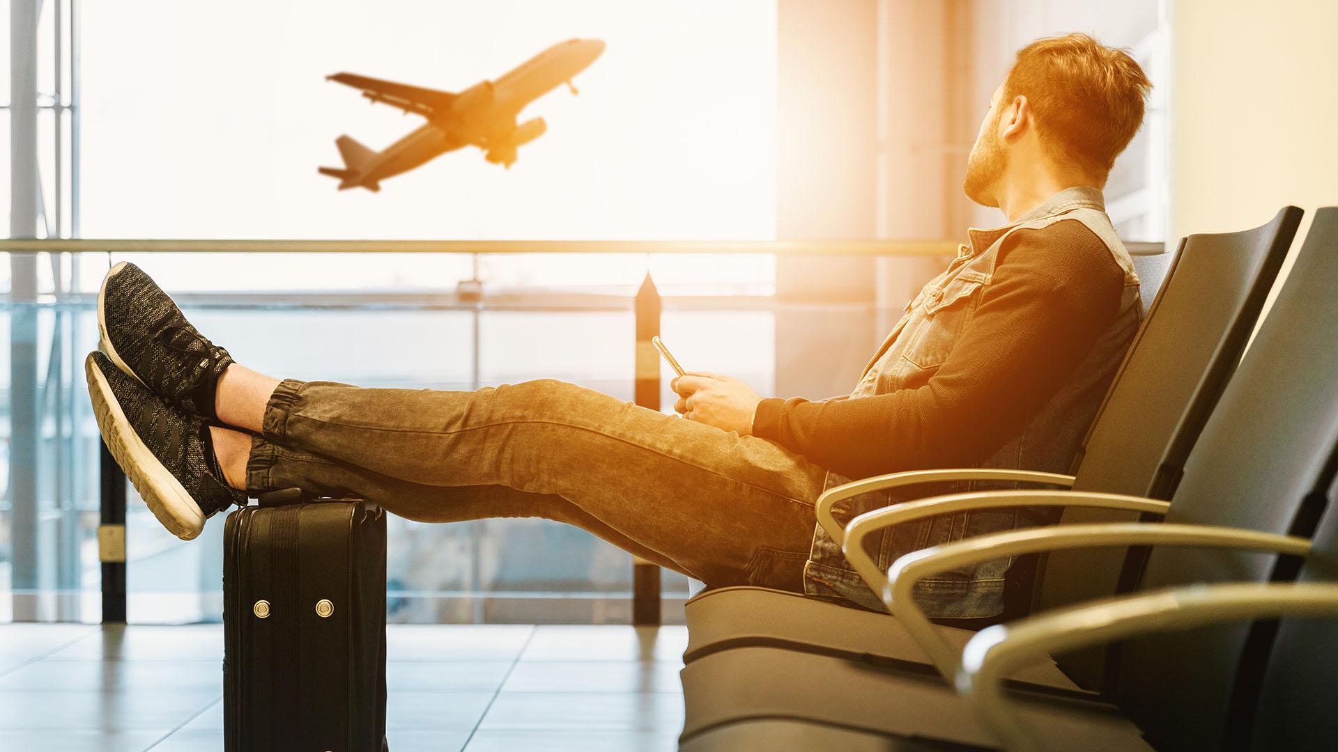 reptér, repülőtér, repülőgép, utasszállító, utas
