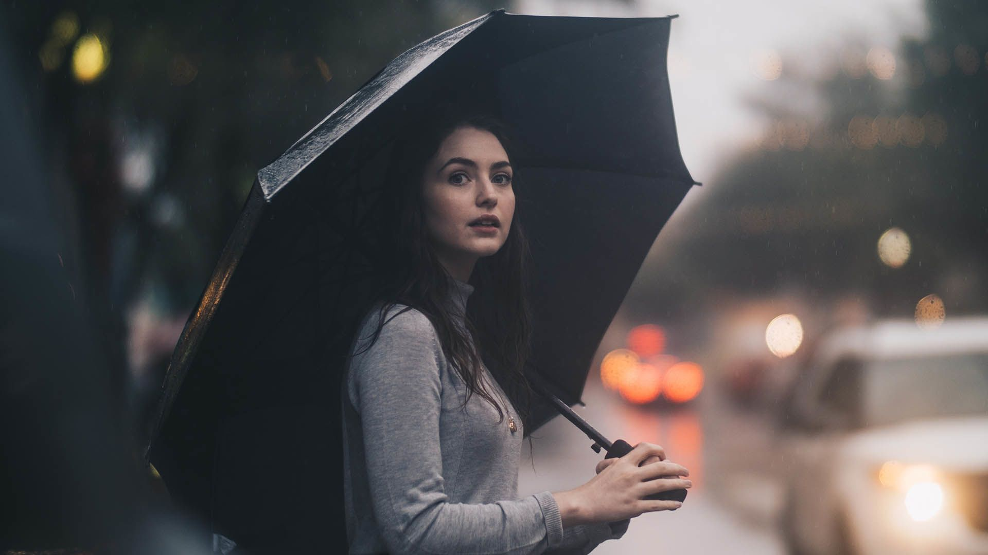 eső, zápor, zivatar, esernyő