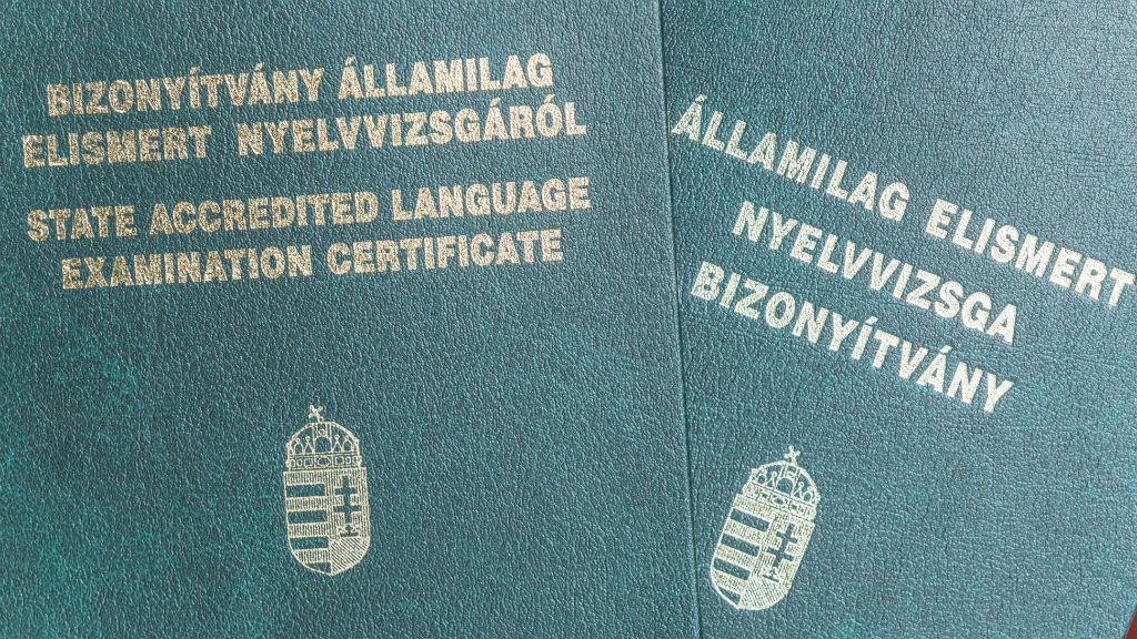 nyelvvizsga bizonyítványok