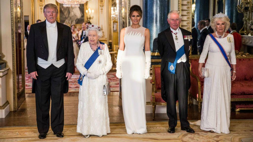 II. Erzsébet Donald Trump Melania Károly herceg Camilla