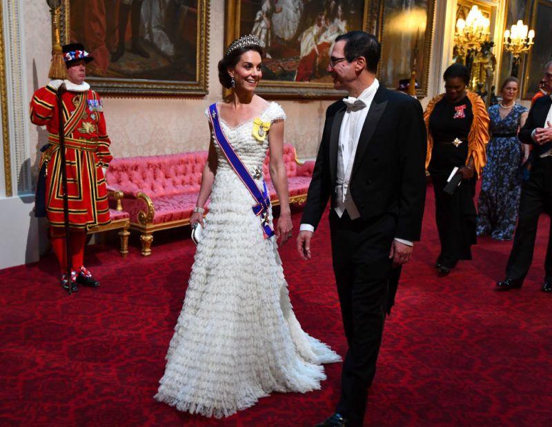 Katalin hercegné a Trump házaspár tiszteletére adott díszvacsorán
