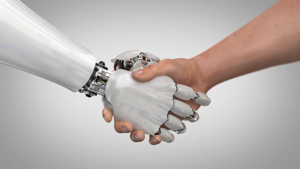 robot kézfogás