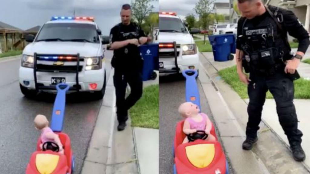 rendőr kislány édesapa igazoltatás