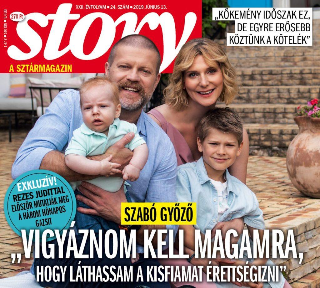 A Story magazin címlapján láthatjuk először Gazsit, Szabó Győző és Rezes Judit kisfiát