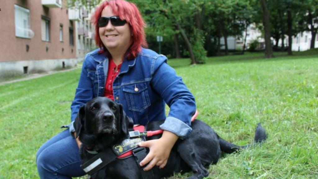 vakvezető kutya diploma segítség megható