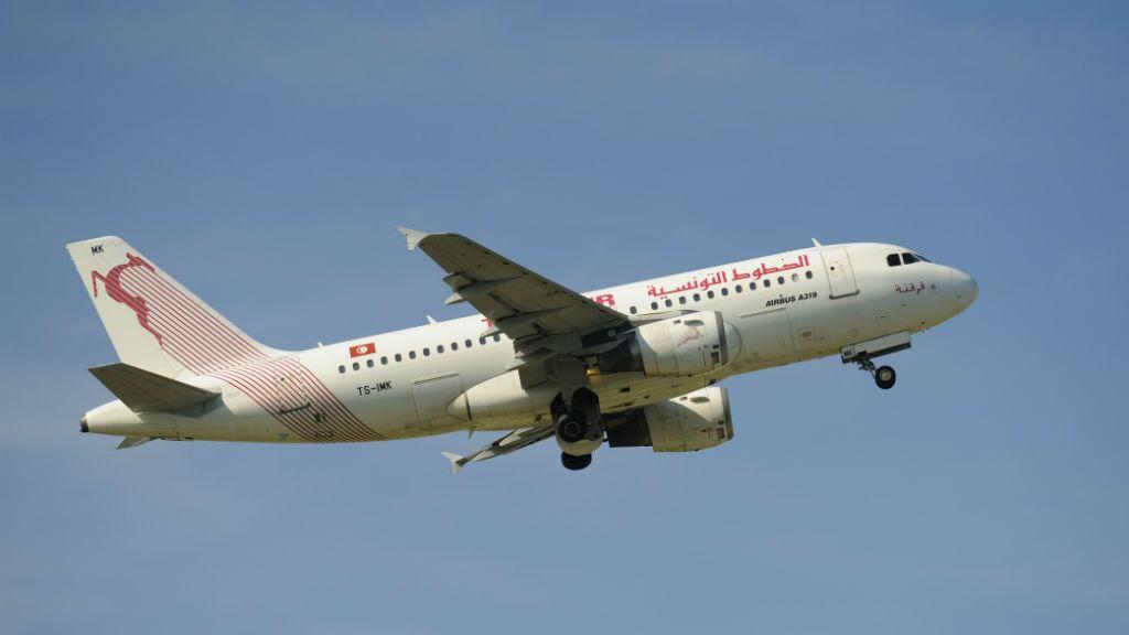 tunézia repülőgép Tunisair