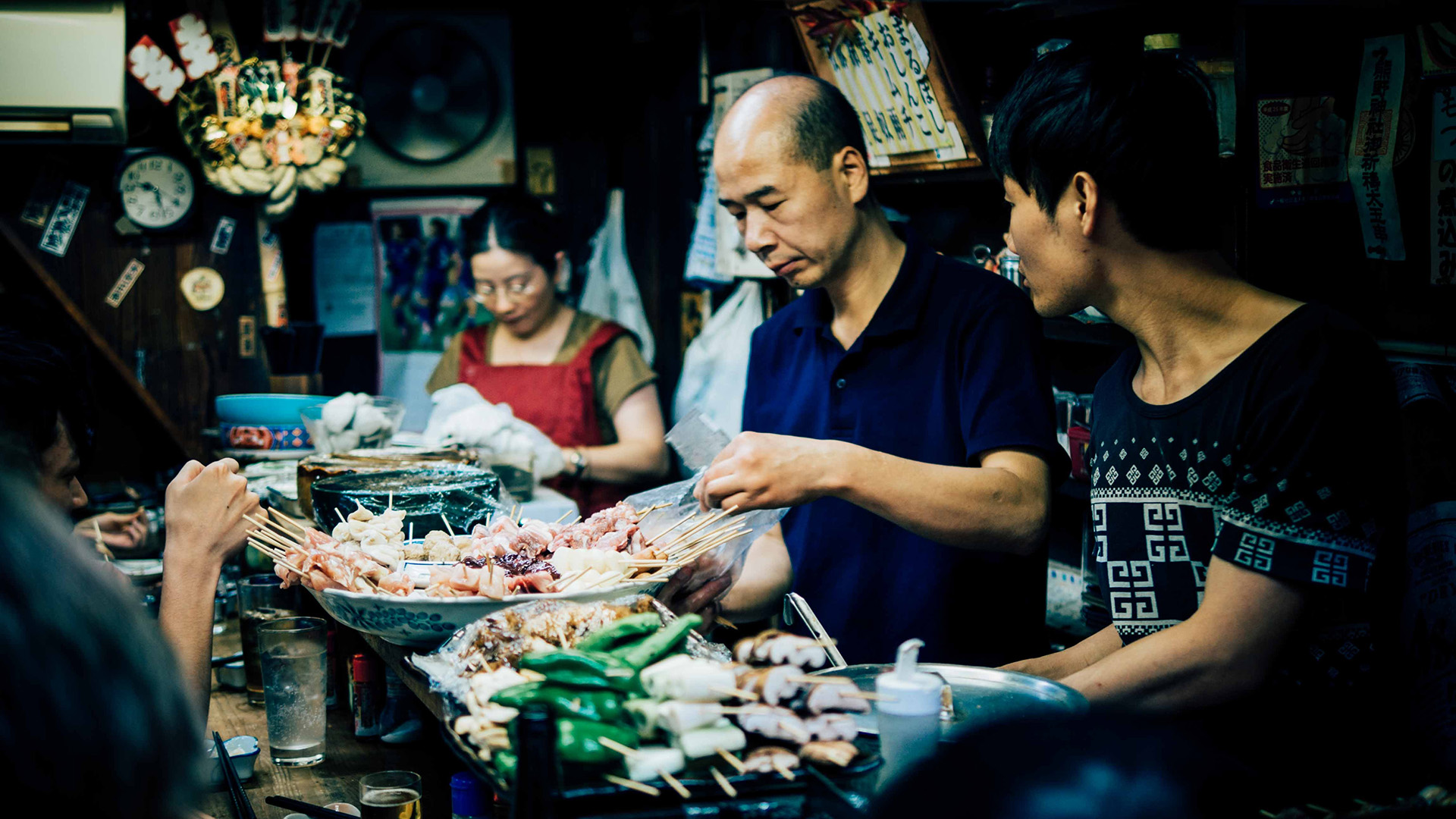 japánok, japán étterem, étel