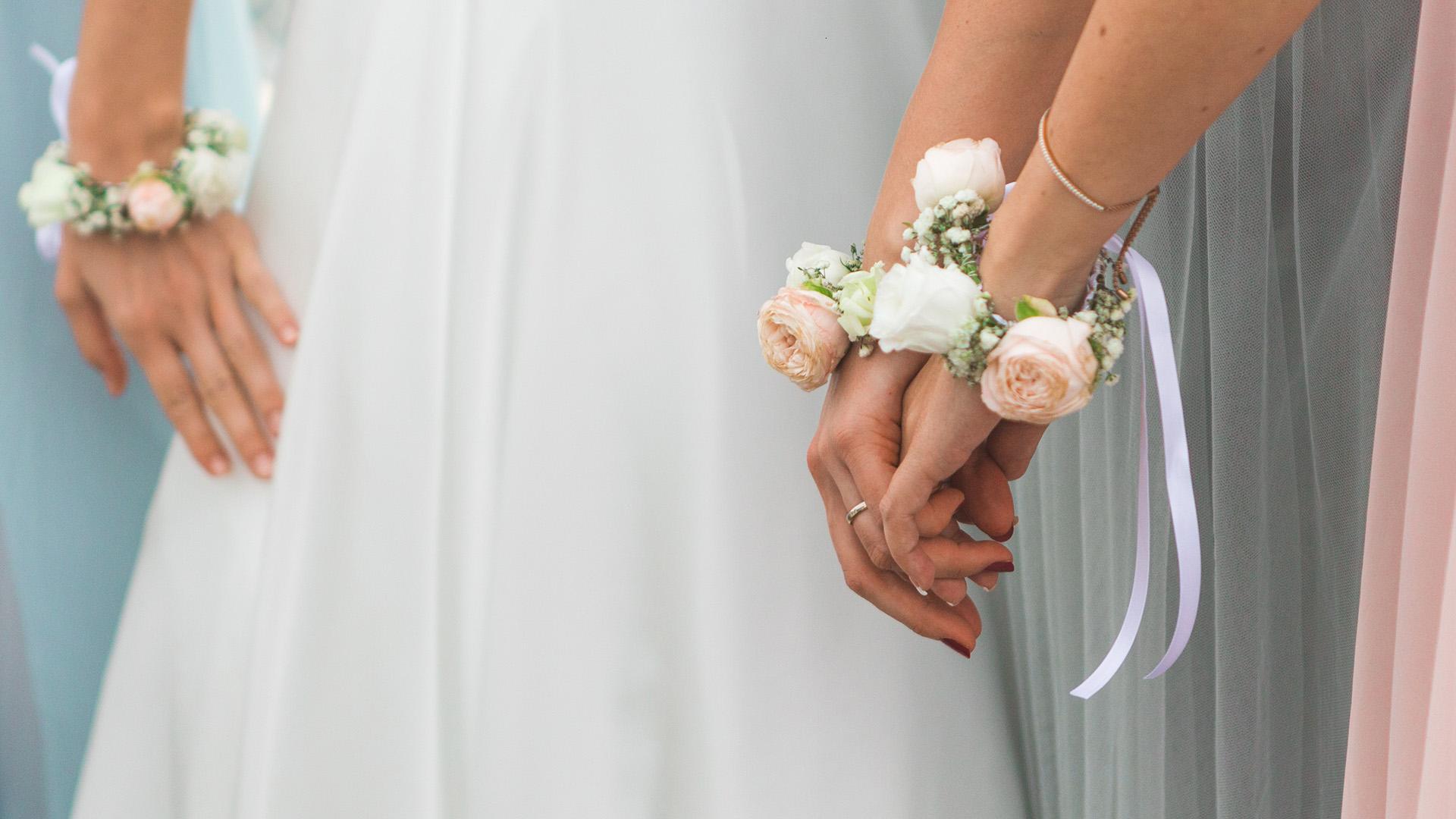 esküvő, szertartás, koszorúslány