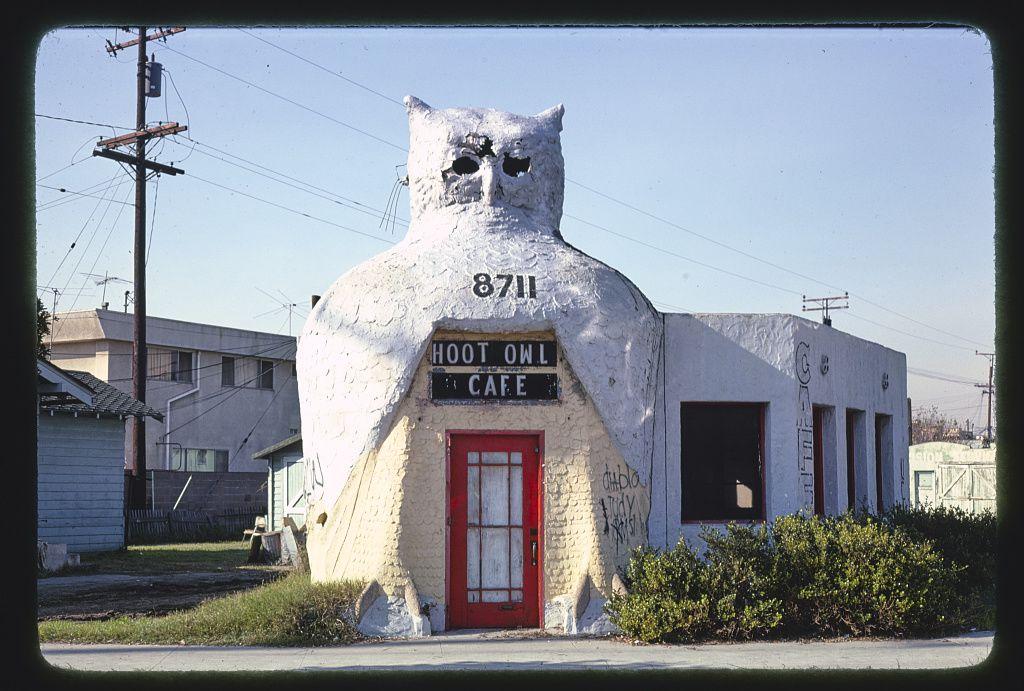 Hoot Owl Cafe, 8711 Long Beach Boulevard, Southgate, Los Angeles, Kalifornia, 1977
