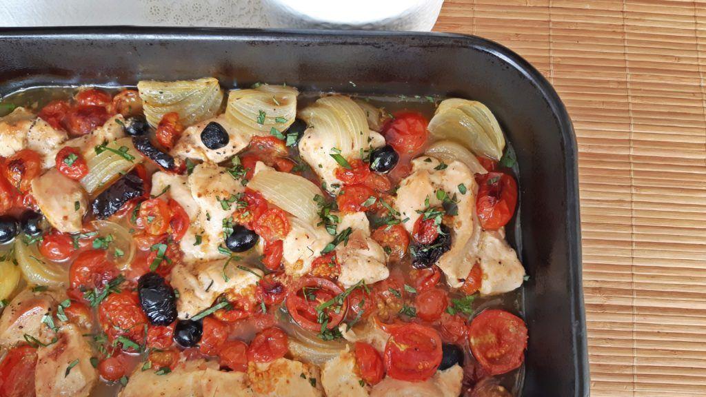 Mediterrán tepsis csirke (Fotó: Belső Olga)