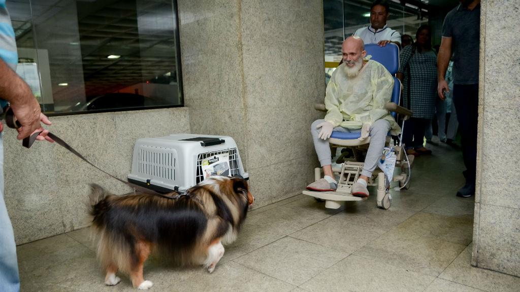kutya kórház látogatás