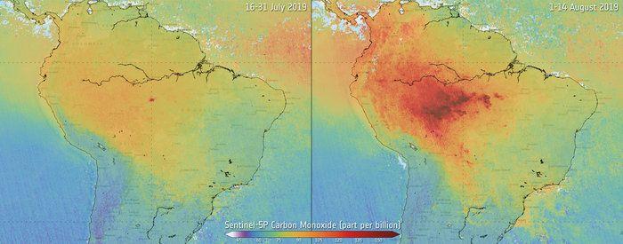 erdőtűz amazonas légszennyezés