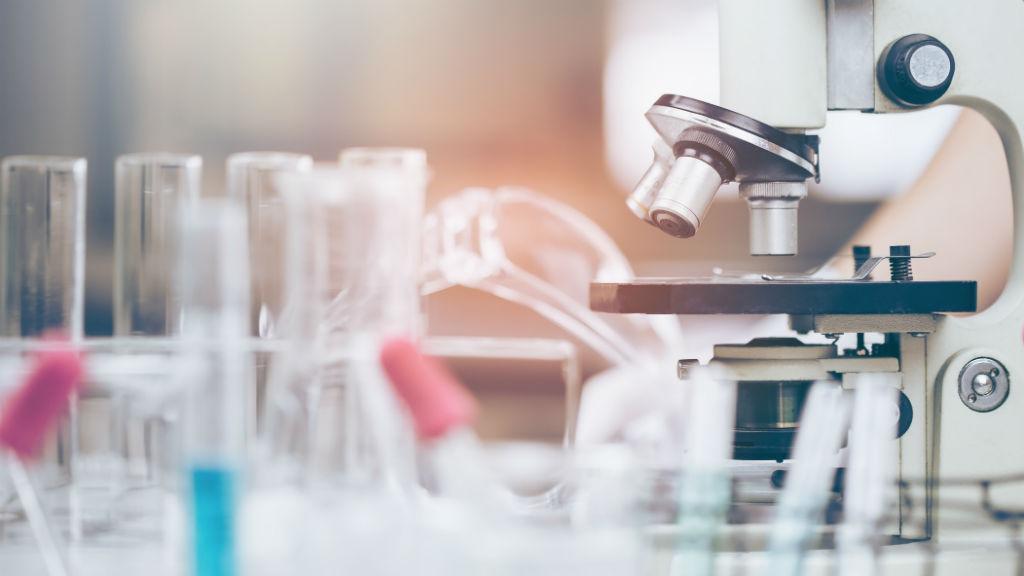 kutatás laboratórium kémcső mikroszkóp