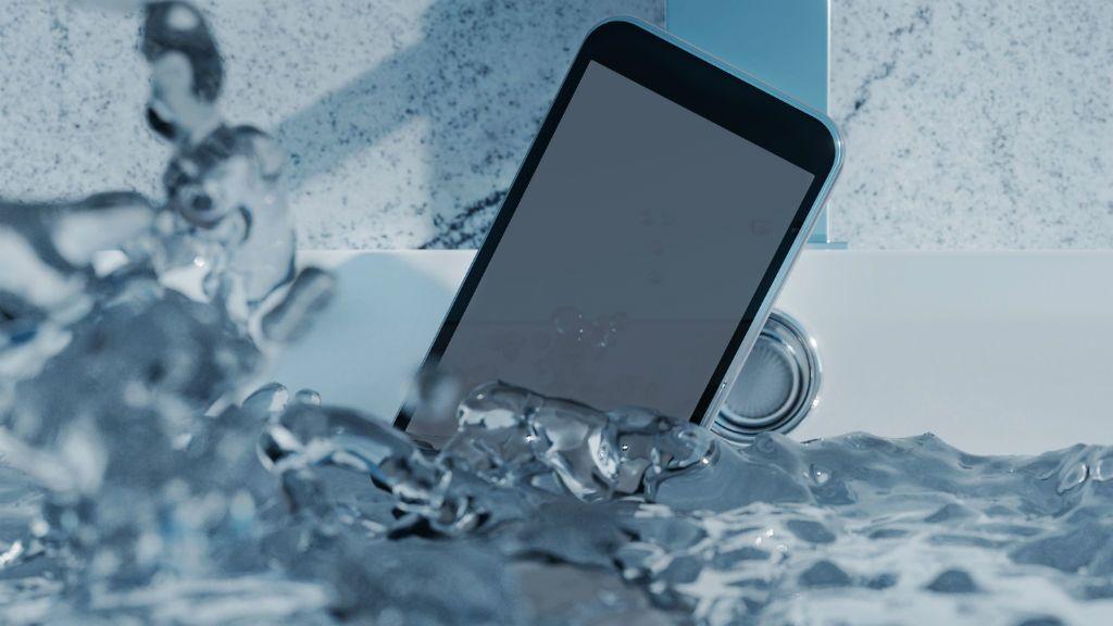 mobiltelefon víz kád