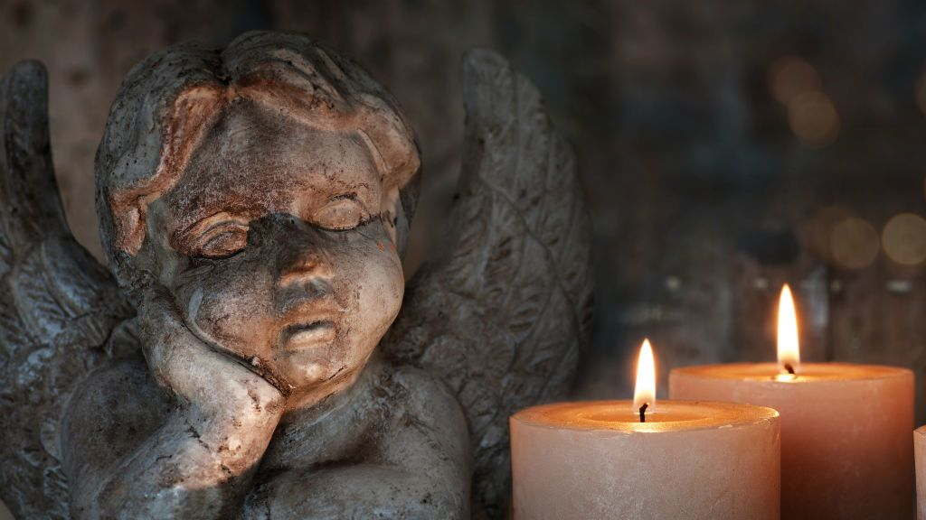 angyal gyerty atemető gyász halál