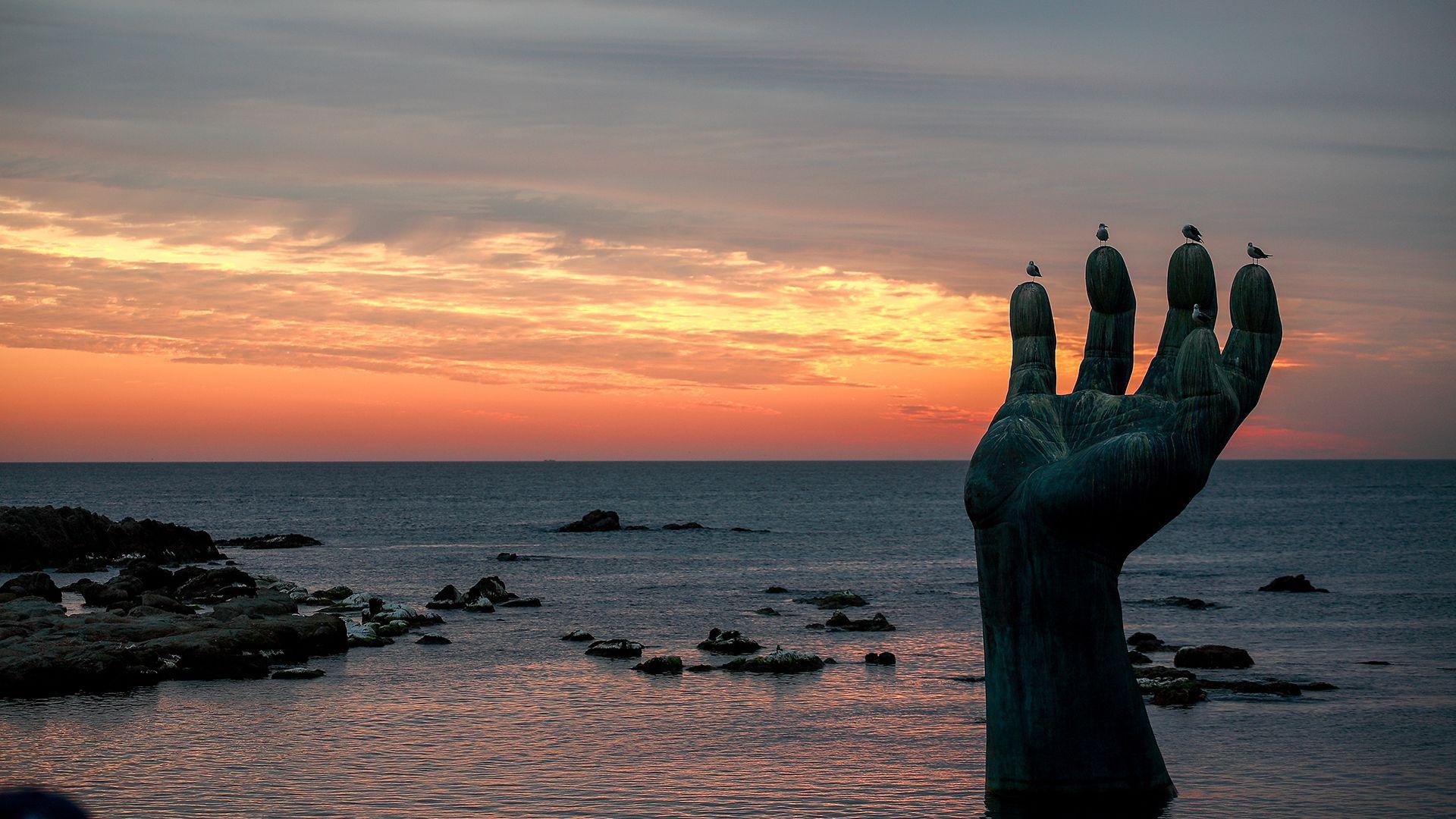 dél-korea, tenger, tengerpart
