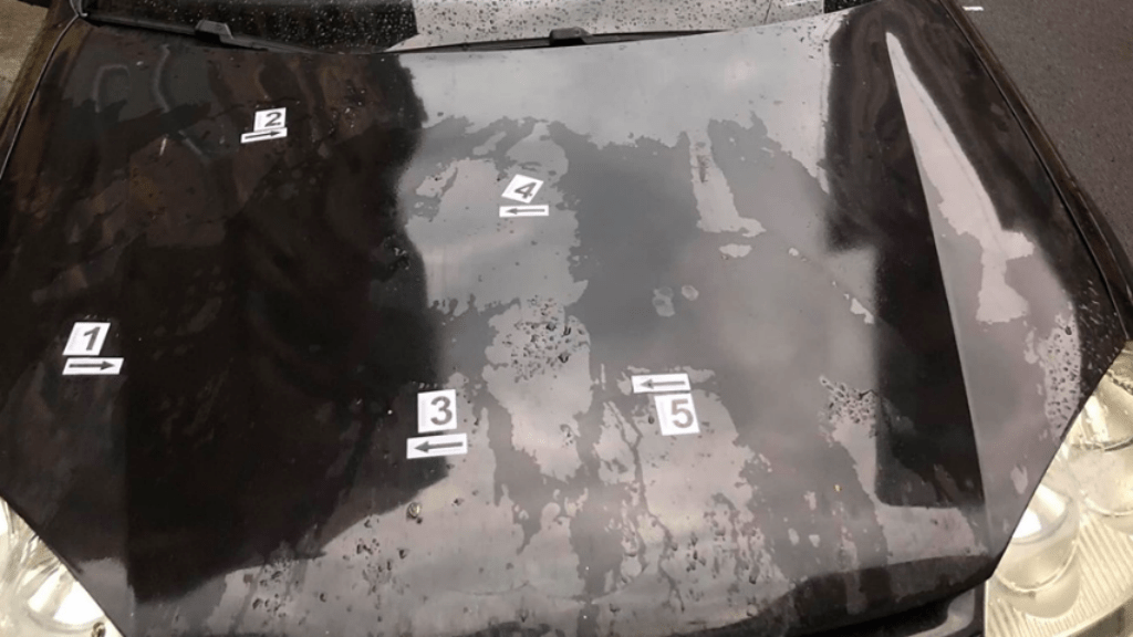 mentő vandál rongálás