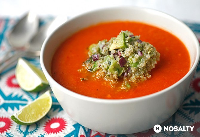 Sültpaprika-krémleves quinoával (Fotó: NOSALTY)