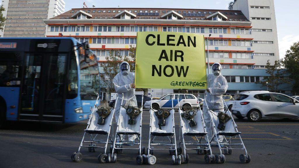 Greenpeace kórház légszennyezettség