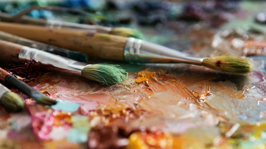 festő paletta ecset festék