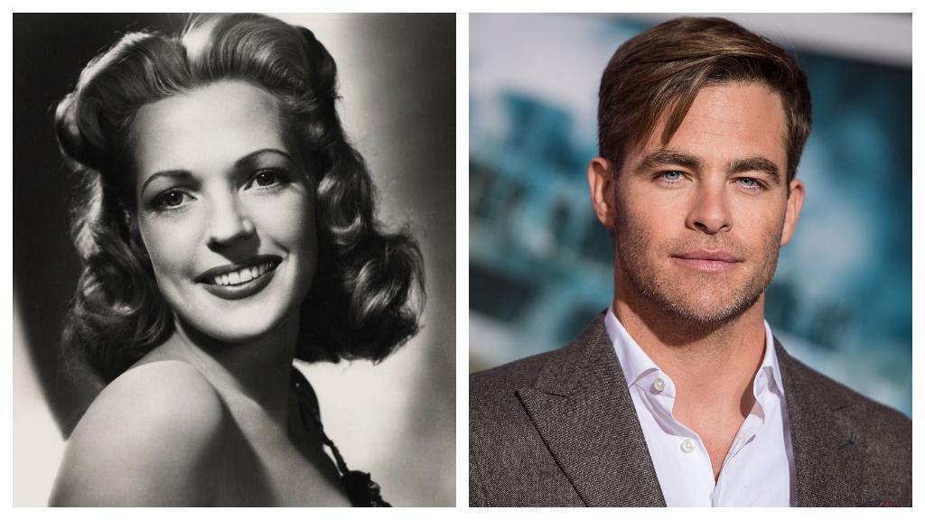 Chris Pine, Anne Gwynne unokája színésznő unokája. (Fotók: Wikipedia, Getty Images)