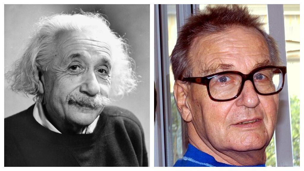 Két zseni, egy család. Albert Einstein és unokája, Bernhard Caesar Einstein. (Fotó: Getty Imafes, Wikipedia)