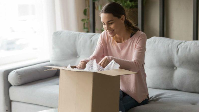 csomag internetes vásárlás doboz csomagolás