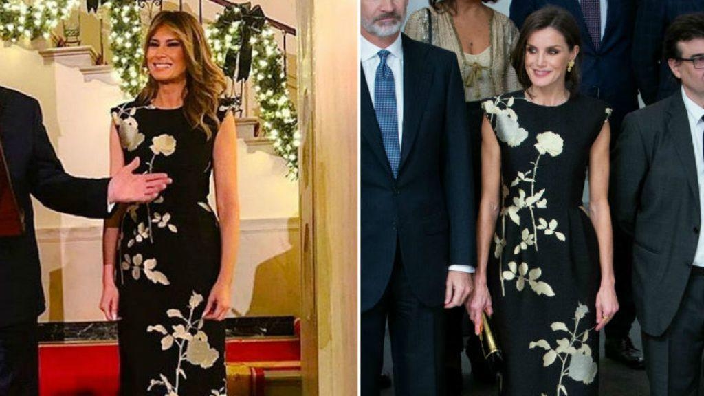 melania trump letícia királyné egyforma ruha