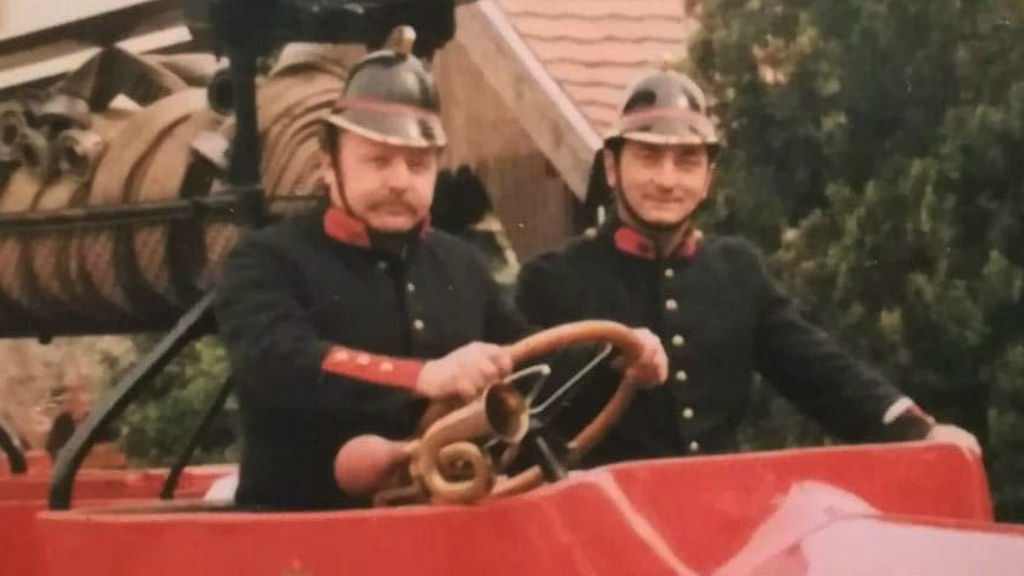 tűzoltók régi felszerelés