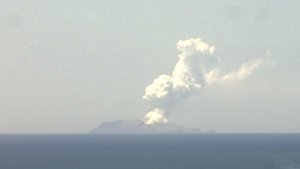 Új-Zéland vulkánkitörés